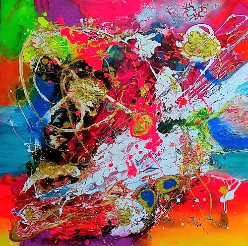 Silke Brandenstein, LA VIDA ES COLORIDA, Fantasy, Abstract Expressionism