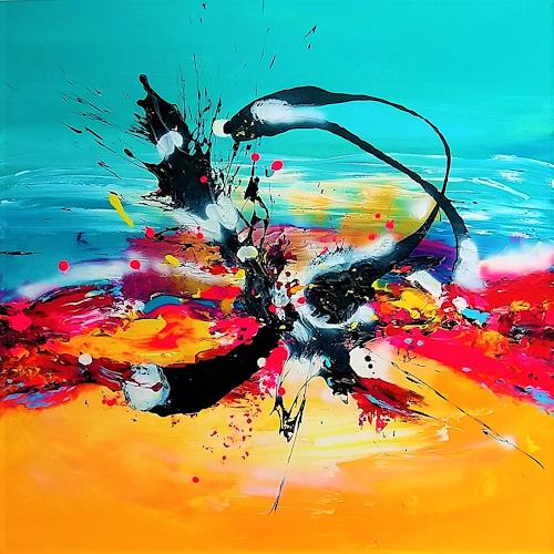 Silke Brandenstein, TAKE OFF, Fantasy, Contemporary Art, Abstract Expressionism