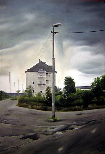 Niklas Hughes, Die alte Lackfabrik, Industry  , Realism, Abstract Expressionism