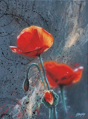 Stingray, Mohn-Light, Plants: Flowers, Photo-Realism, Expressionism