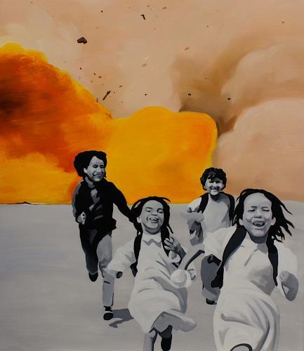 Bartosz Kolata, The stolen children, People: Children, War, Photo-Realism, Abstract Expressionism