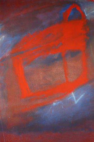 Rolf Blösch, red box, Fantasy, Emotions: Safety, Abstract Expressionism