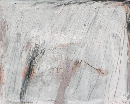 Rolf Blösch, Haus im Schnee, Abstract art