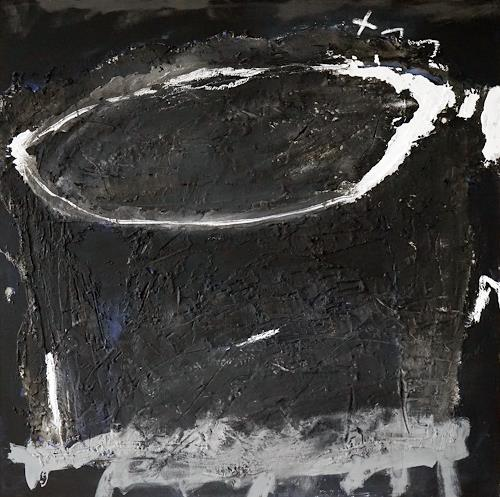 Rolf Blösch, im Kreis bewegende Gedanken, Abstract art, Poetry, Contemporary Art, Abstract Expressionism