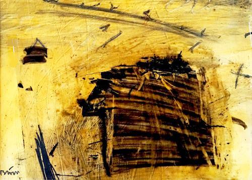 Rolf Blösch, Geist über dem Schamanenhaus, Abstract art, Fantasy, Contemporary Art