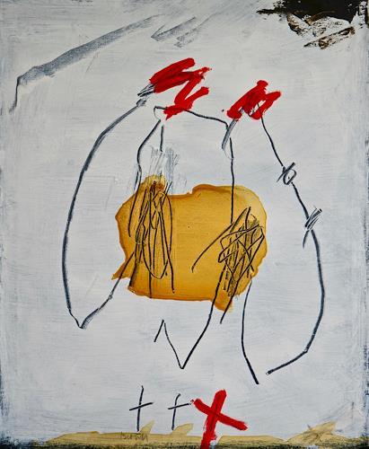 Rolf Blösch, Bauchschmerzen, Abstract art, Emotions: Joy, Non-Objectivism [Informel], Abstract Expressionism