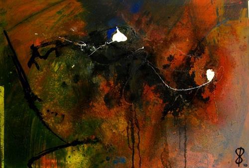 Detlev Eilhardt, MinneTaurus im Verlies, Abstract art, Fantasy, Abstract Expressionism