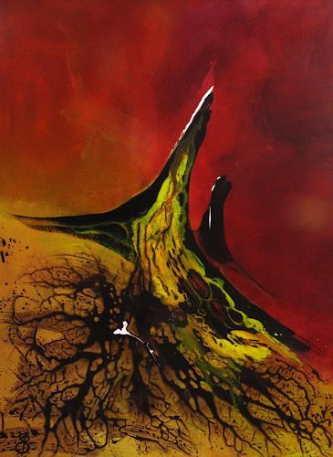 Detlev Eilhardt, Das Einhorn, Abstract art, Fantasy, Abstract Expressionism, Expressionism