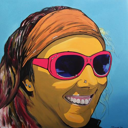 Detlev Eilhardt, Sunglasses III, Emotions: Joy, People: Women, Pop-Art