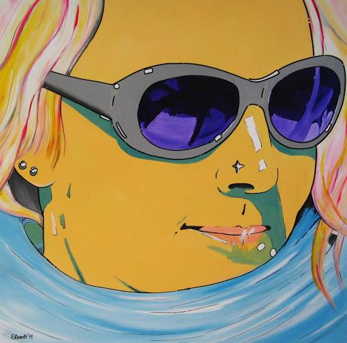Detlev Eilhardt, sunglasses I, Decorative Art, People: Women, Pop-Art, Abstract Expressionism