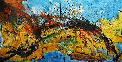 Detlev Eilhardt, Unterwegs, Abstract art, Movement, Abstract Expressionism