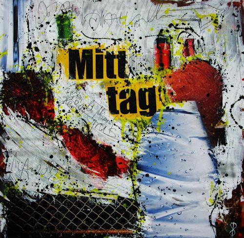 Detlev Eilhardt, Mitttag, Abstract art, People: Men, Pop-Art, Expressionism