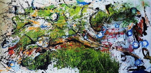 Detlev Eilhardt, Heimlicher Grund, Abstract art, Landscapes: Summer, Pop-Art