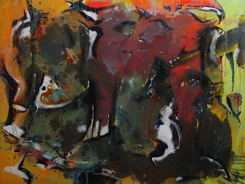 Detlev Eilhardt, Das goldene Kalb, Belief, Abstract art, Abstract Expressionism