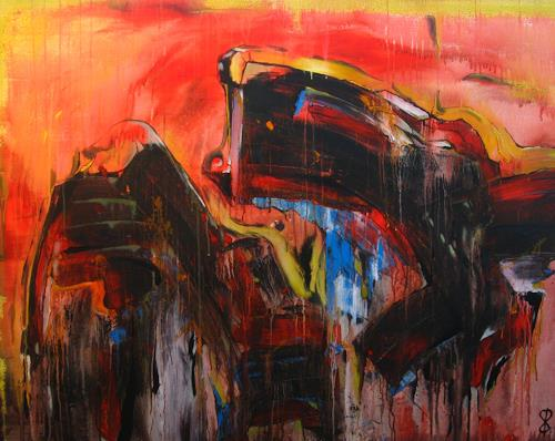 Detlev Eilhardt, Aufstand der Elemente, Abstract art, Symbol, Action Painting, Abstract Expressionism