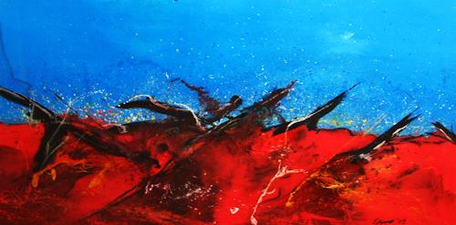 Detlev Eilhardt, Glut II, Abstract art, Movement, Action Painting