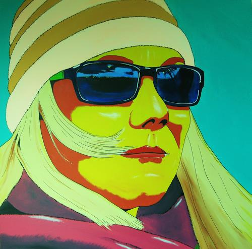"""Detlev Eilhardt, sunglasses X """"confidence, People: Women, People: Portraits, Pop-Art, Abstract Expressionism"""