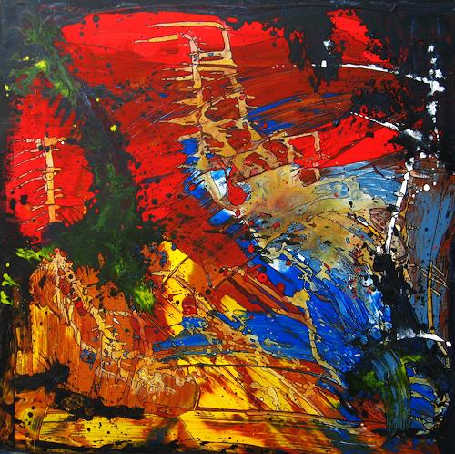 Detlev Eilhardt, Horizontbegrenzung, Abstract art, Fantasy, Abstract Expressionism