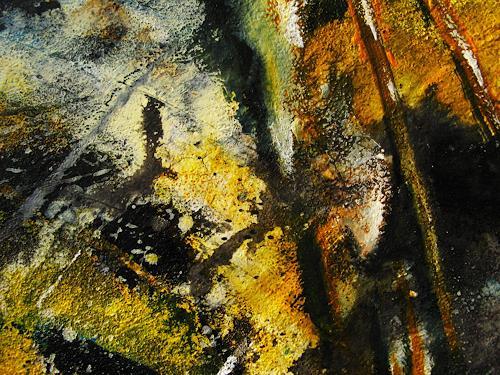 Detlev Eilhardt, Evokation II - Detail, Abstract art, Fantasy, Abstract Expressionism, Expressionism