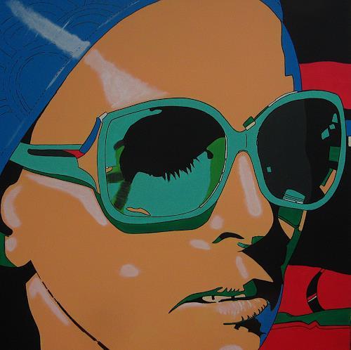 Detlev Eilhardt, sunglasses IV stretched, People: Women, People: Faces, Pop-Art, Expressionism