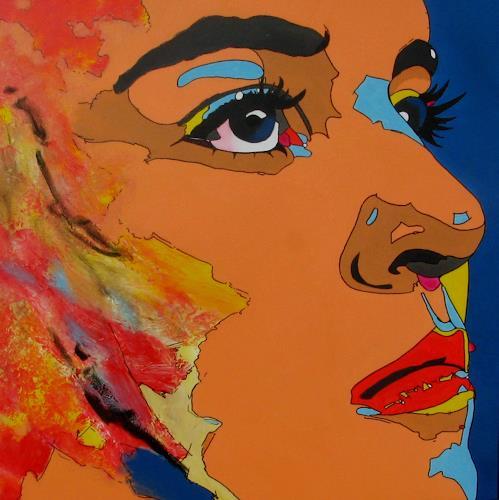 Detlev Eilhardt, Geschenkte Zeit, People: Women, People: Portraits, Pop-Art, Abstract Expressionism