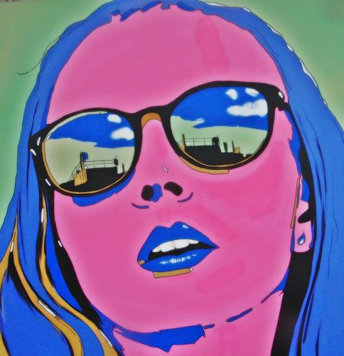 Detlev Eilhardt, Violet, People: Women, People: Portraits, Pop-Art, Abstract Expressionism