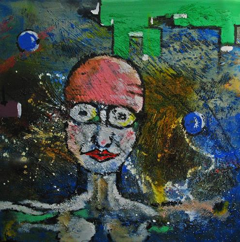 Detlev Eilhardt, Aufgetaucht, Situations, People: Faces, Abstract Expressionism