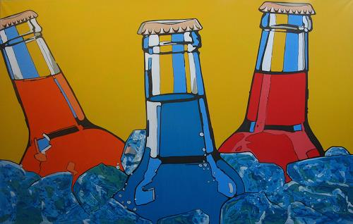 Detlev Eilhardt, BOTTLES, Decorative Art, Parties/Celebrations, Pop-Art, Abstract Expressionism