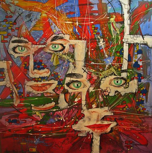 Detlev Eilhardt, DIFFERENT SIGHTS OF HER EYES, Burlesque, Poetry, Pop-Art, Abstract Expressionism