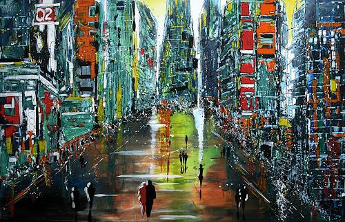 Detlev Eilhardt, BIG CITY, Architecture, Interiors: Cities, Pop-Art, Expressionism