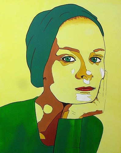 Detlev Eilhardt, tardif, People: Women, People: Portraits, New Figurative Art, Expressionism