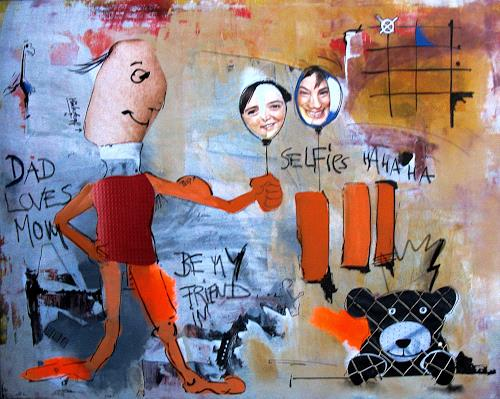 Detlev Eilhardt, DAD LOVES MOM, Miscellaneous People, Burlesque, Pop-Art, Abstract Expressionism
