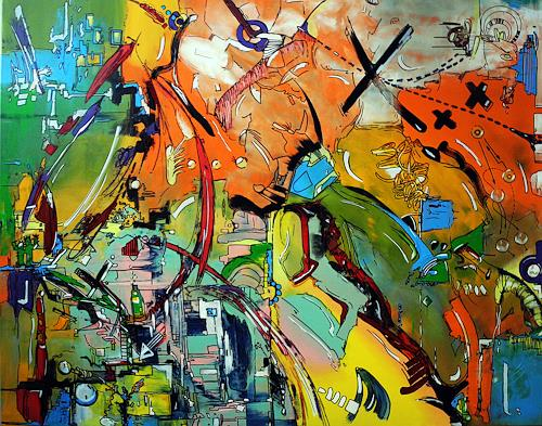 Detlev Eilhardt, 7YEARS, Abstract art, Fantasy, Neo-Expressionism, Abstract Expressionism