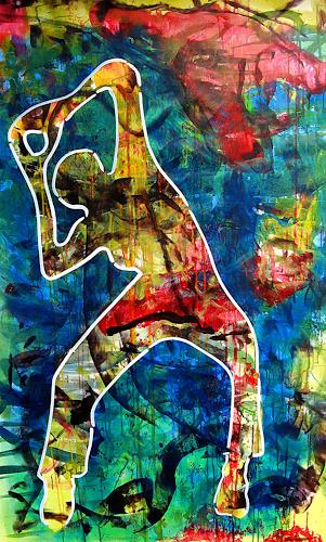Detlev Eilhardt, Summerdanz, People: Women, Movement, Pop-Art, Expressionism