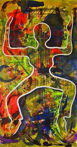 Detlev Eilhardt, JUMP, People: Women, Movement, Pop-Art, Abstract Expressionism