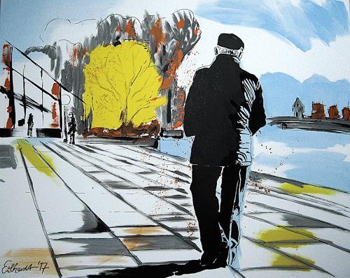 Detlev Eilhardt, GEORG IN KONSTANZ, People: Men, Times: Autumn, Contemporary Art, Expressionism