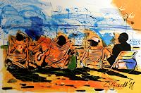 Detlev-Eilhardt-1-People-Group-Landscapes-Beaches-Modern-Age-Expressionism-Neo-Expressionism