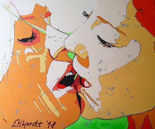 Detlev Eilhardt, KISS II, People: Women, People: Faces, Pop-Art, Expressionism