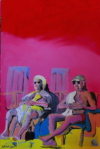 Detlev Eilhardt, sun worshipers, People: Couples, Leisure, Expressive Realism