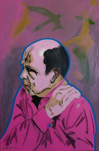 Detlev Eilhardt, Die Last auf meinen Schultern, People: Men, Symbol, Expressive Realism, Abstract Expressionism
