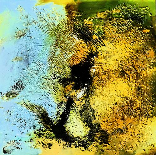 Detlev Eilhardt, Monument III - Ahnung von Nix, Abstract art, Poetry, Abstract Expressionism