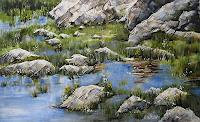 Konrad-Zimmerli-Landscapes-Summer-Nature-Water-Modern-Age-Abstract-Art