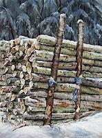 Konrad-Zimmerli-Landscapes-Winter-Nature-Wood