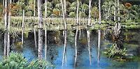 Konrad-Zimmerli-Landscapes-Autumn-Nature-Water-Modern-Age-Naturalism