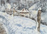 Konrad-Zimmerli-Landscapes-Winter-Nature-Wood-Modern-Age-Impressionism