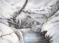 Konrad-Zimmerli-Landscapes-Winter-Nature-Water-Modern-Age-Impressionism