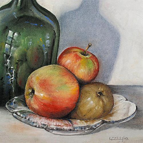 Konrad Zimmerli, Stilleben, Harvest, Still life, Abstract Art