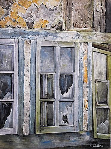 Konrad Zimmerli, Bruchbude, Buildings: Houses, Decorative Art, Abstract Art, Abstract Expressionism