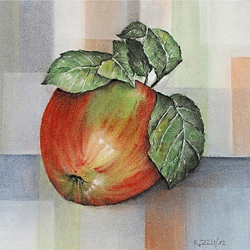 Konrad Zimmerli, Apfel, Decorative Art, Meal