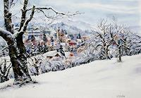 Konrad-Zimmerli-Landscapes-Winter-Architecture-Modern-Age-Abstract-Art
